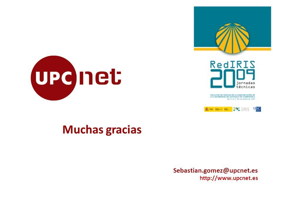 Sebastian.gomez@upcnet.es http://www.upcnet.es Muchas gracias