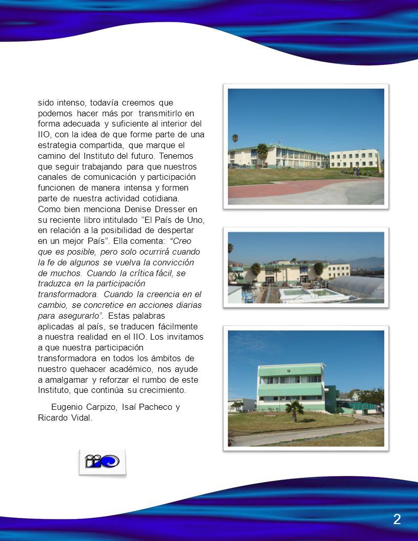 Ambiente, una plaza asociada al CA de geociencias ambientales y 3 plazas para reforzar el área de Oceanografía Física del IIO.