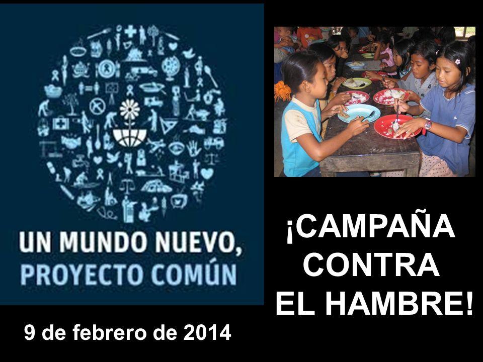 ¡CAMPAÑA CONTRA EL HAMBRE! 9 de febrero de 2014
