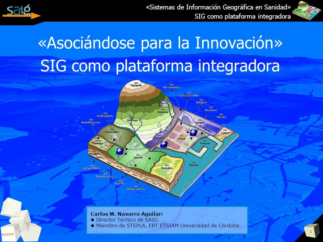 «Asociándose para la Innovación» SIG como plataforma integradora 1 «Sistemas de Información Geográfica en Sanidad» SIG como plataforma integradora Car