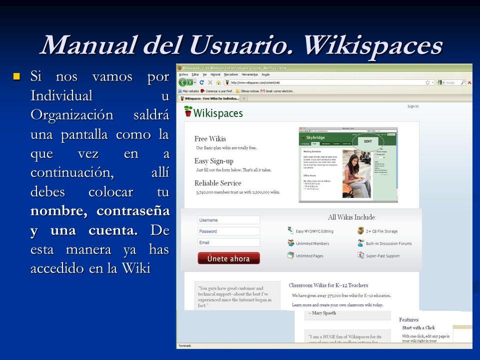 En Mis Wikis conseguimos una pantalla como la siguiente En Mis Wikis conseguimos una pantalla como la siguiente Manual del Usuario.