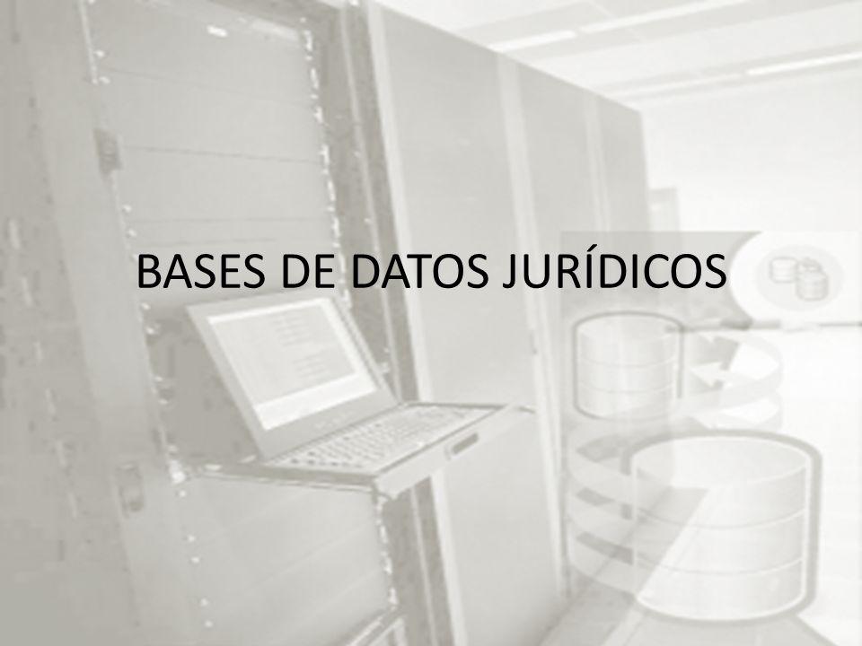 BASES DE DATOS JURÍDICOS