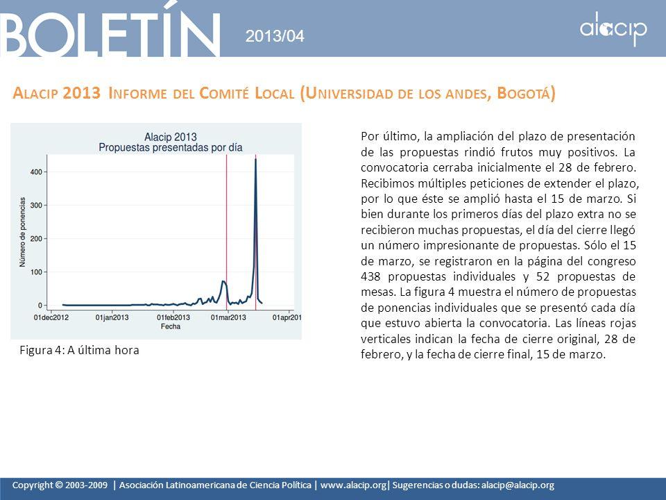 Copyright © 2003-2009 | Asociación Latinoamericana de Ciencia Política | www.alacip.org| Sugerencias o dudas: alacip@alacip.org 2013/04 A LACIP 2013 I