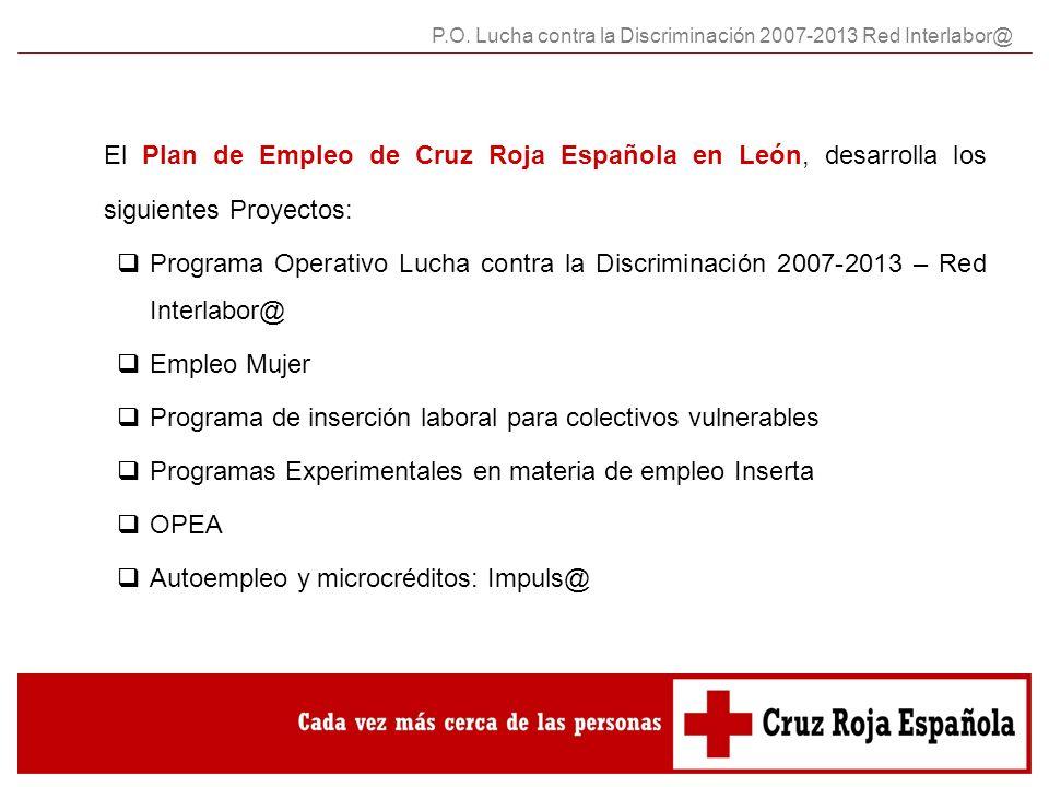Cruz Roja Española a través de su Plan de Empleo para Colectivos Vulnerables, desarrolla el Programa Operativo Plurirregional Lucha Contra la Discriminación.