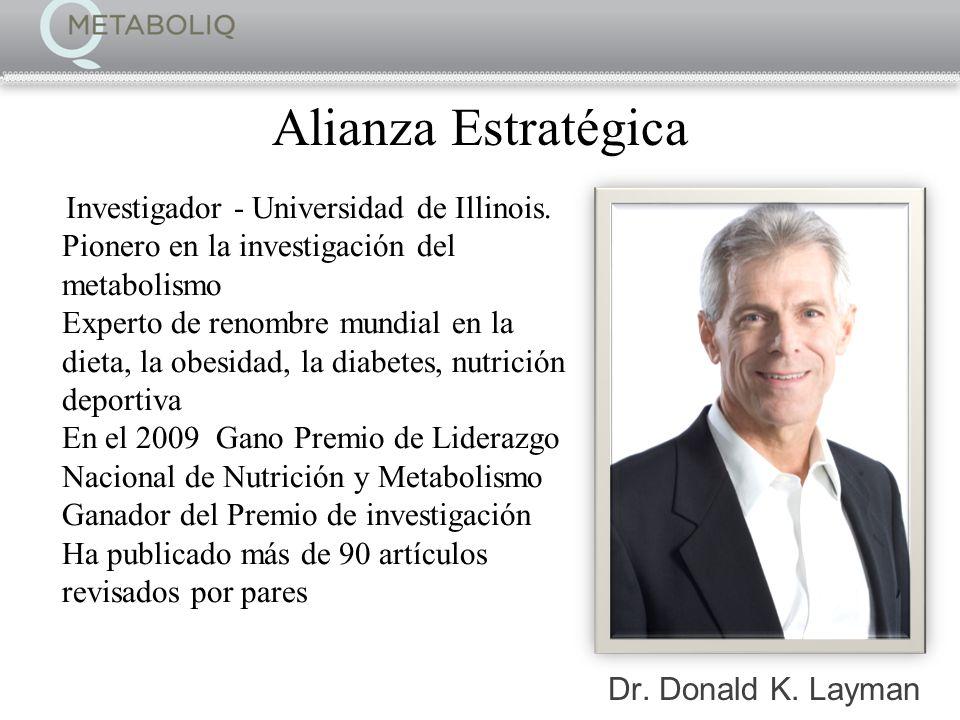 Dr. Donald K. Layman Investigador - Universidad de Illinois. Pionero en la investigación del metabolismo Experto de renombre mundial en la dieta, la o