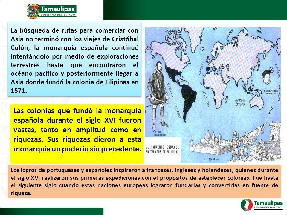 La búsqueda de rutas para comerciar con Asia no terminó con los viajes de Cristóbal Colón, la monarquía española continuó intentándolo por medio de ex
