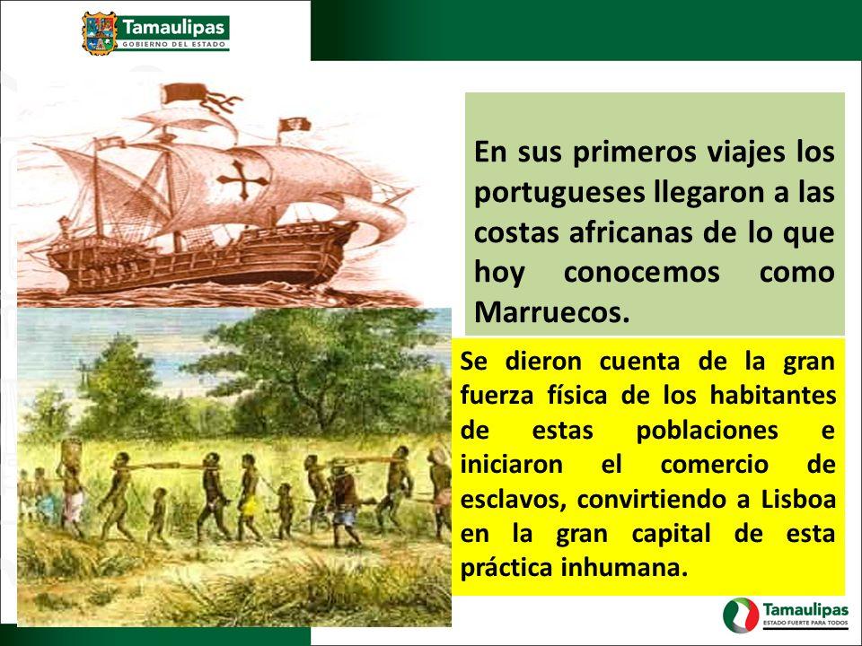 En sus primeros viajes los portugueses llegaron a las costas africanas de lo que hoy conocemos como Marruecos. Se dieron cuenta de la gran fuerza físi
