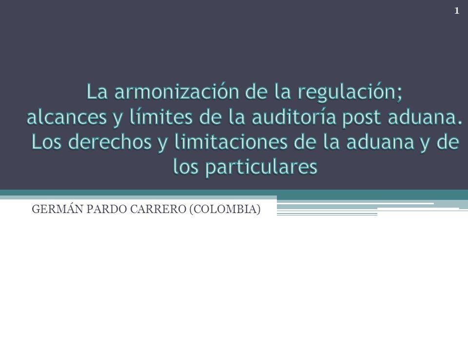 La armonización de la regulación La idea de armonización en cualquier campo hace que se deba trabajar sobre conceptos fundamentales, pues conviene partir de que exista acuerdo sobre lo que se va a armonizar.