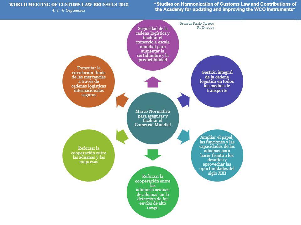 Marco Normativo para asegurar y facilitar el Comercio Mundial Seguridad de la cadena logística y facilitar el comercio a escala mundial para aumentar