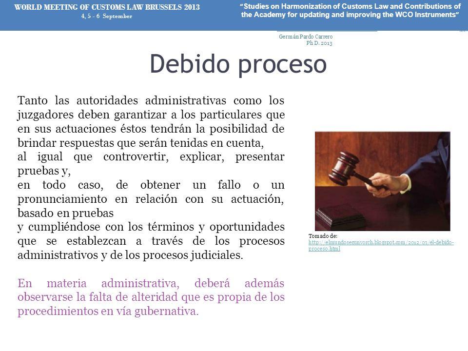 Debido proceso Tanto las autoridades administrativas como los juzgadores deben garantizar a los particulares que en sus actuaciones éstos tendrán la p