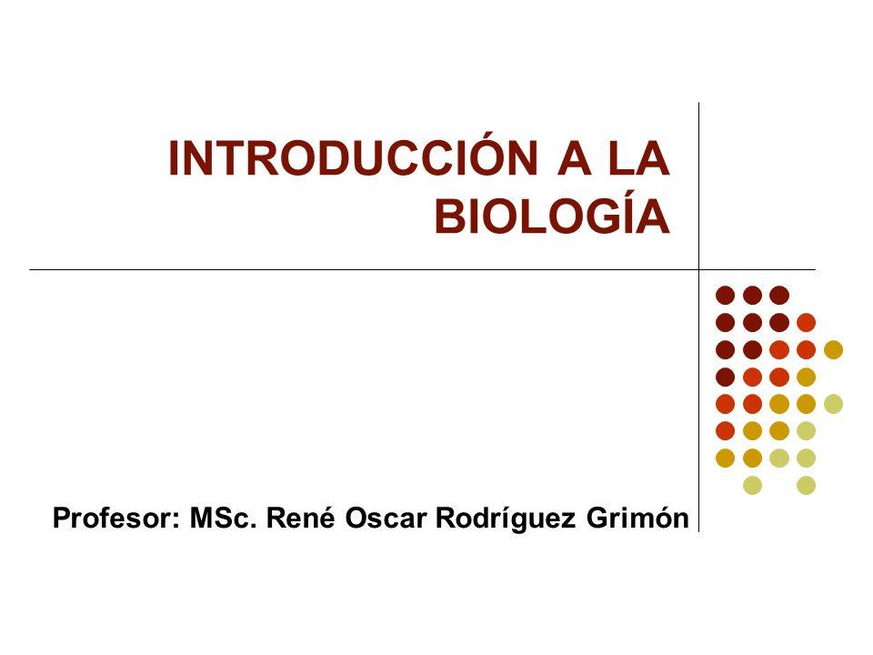 INTRODUCCIÓN A LA BIOLOGÍA Profesor: MSc. René Oscar Rodríguez Grimón