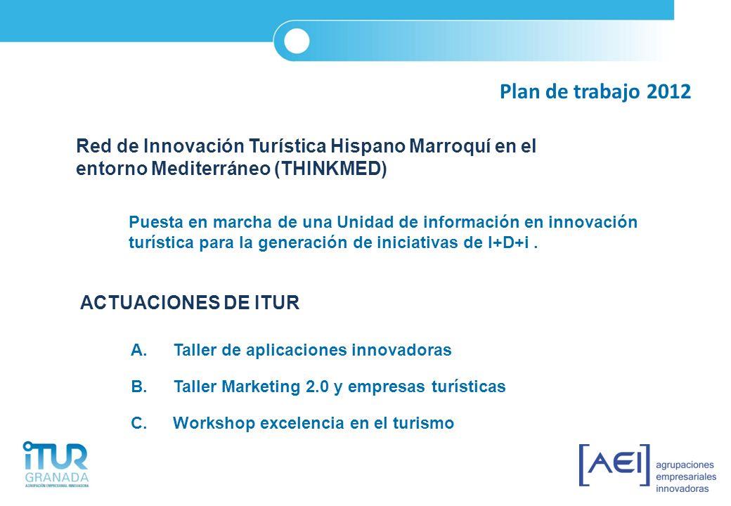 Plan de trabajo 2012 Red de Innovación Turística Hispano Marroquí en el entorno Mediterráneo (THINKMED) Puesta en marcha de una Unidad de información