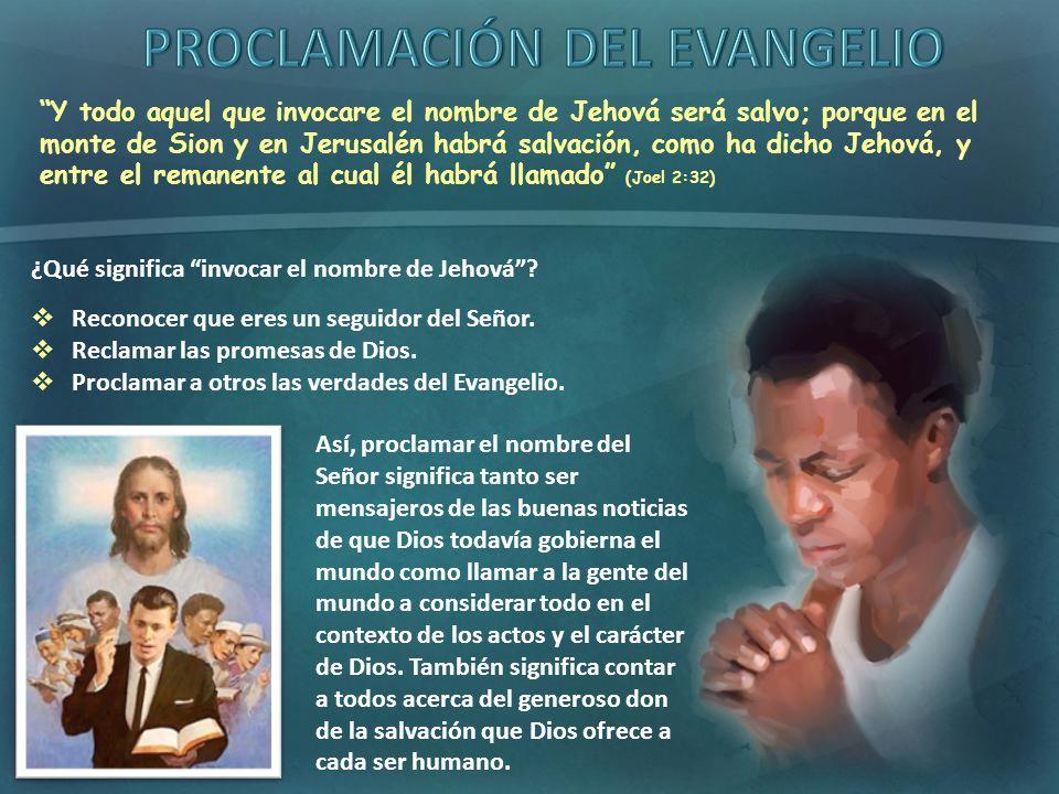 Y todo aquel que invocare el nombre de Jehová será salvo; porque en el monte de Sion y en Jerusalén habrá salvación, como ha dicho Jehová, y entre el