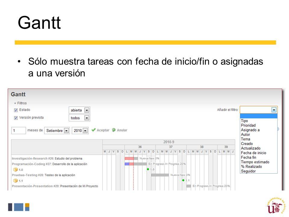 Gantt Sólo muestra tareas con fecha de inicio/fin o asignadas a una versión