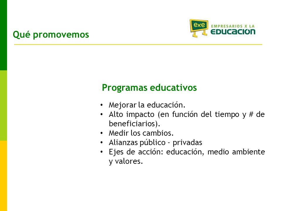 Programas educativos Mejorar la educación.
