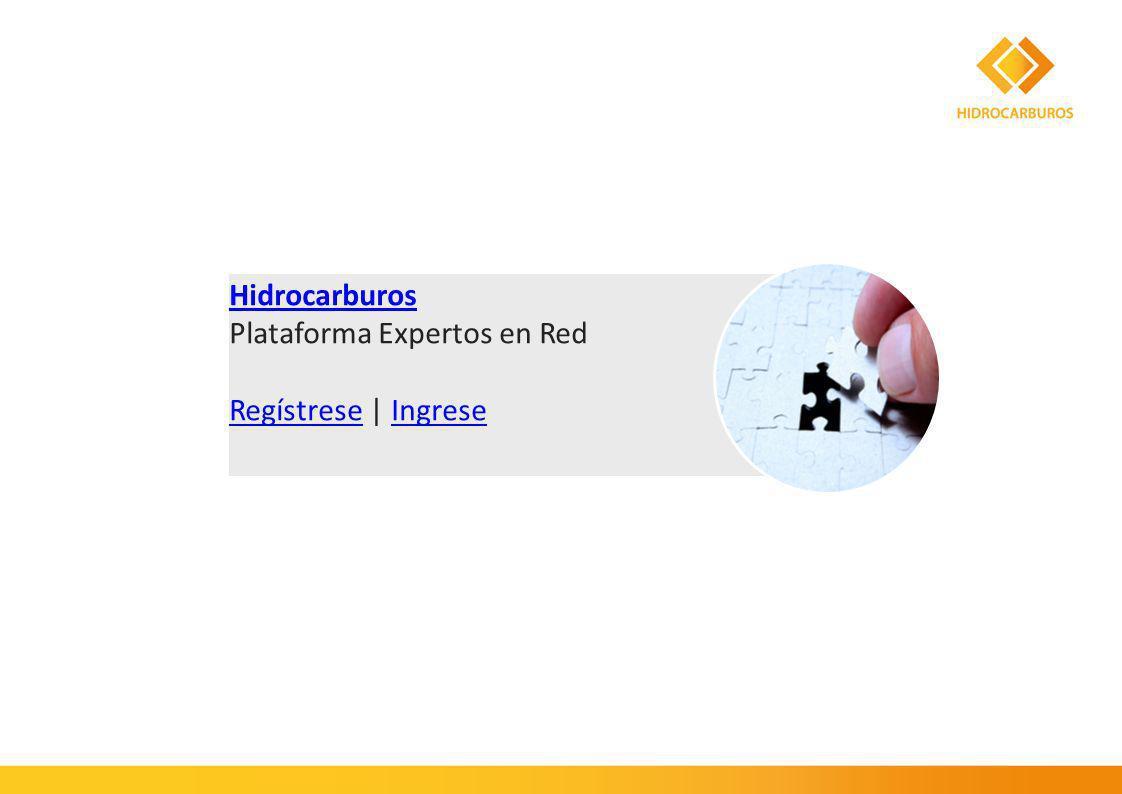 Hidrocarburos Plataforma Expertos en Red RegístreseRegístrese | IngreseIngrese