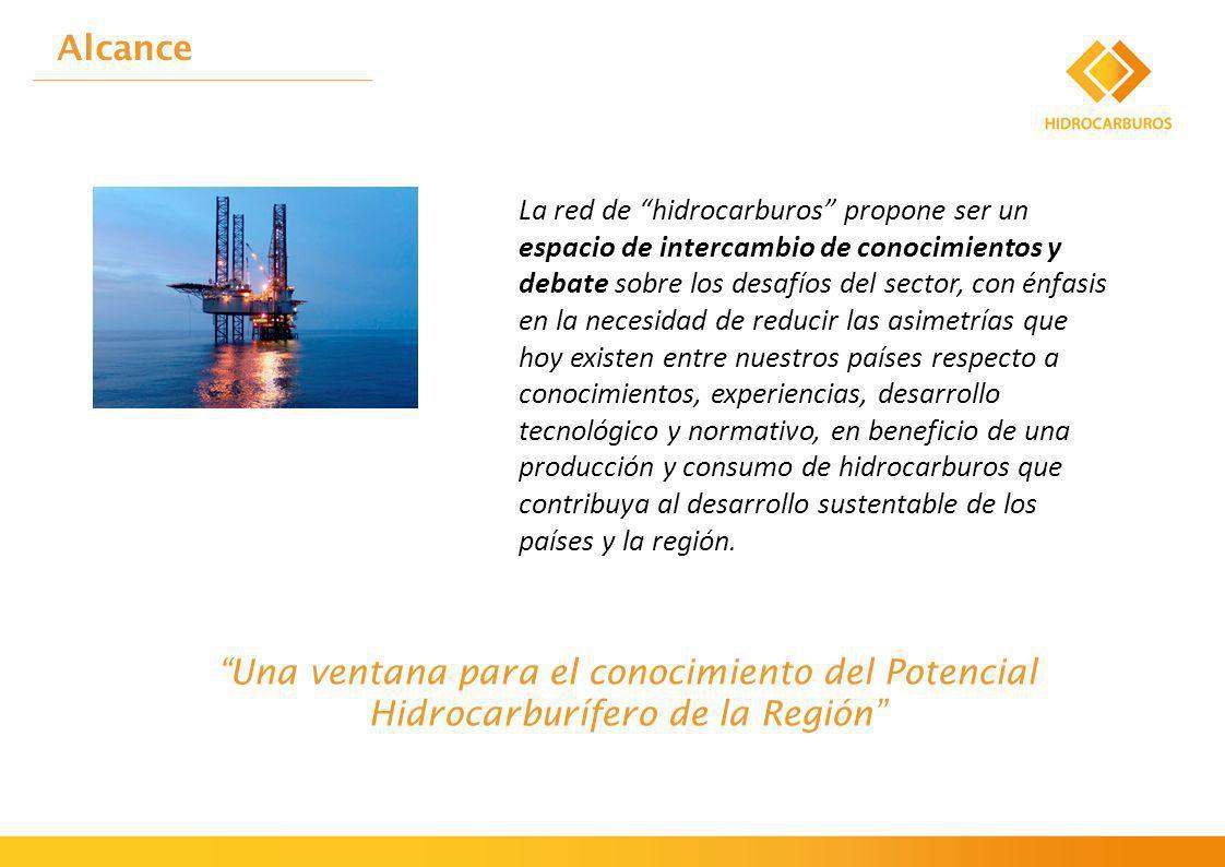 La red de hidrocarburos propone ser un espacio de intercambio de conocimientos y debate sobre los desafíos del sector, con énfasis en la necesidad de reducir las asimetrías que hoy existen entre nuestros países respecto a conocimientos, experiencias, desarrollo tecnológico y normativo, en beneficio de una producción y consumo de hidrocarburos que contribuya al desarrollo sustentable de los países y la región.