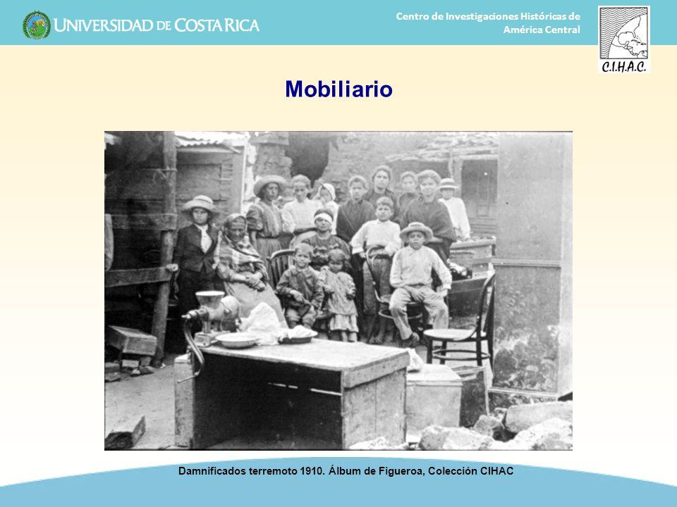 17 Centro de Investigaciones Históricas de América Central Mobiliario Damnificados terremoto 1910. Álbum de Figueroa, Colección CIHAC