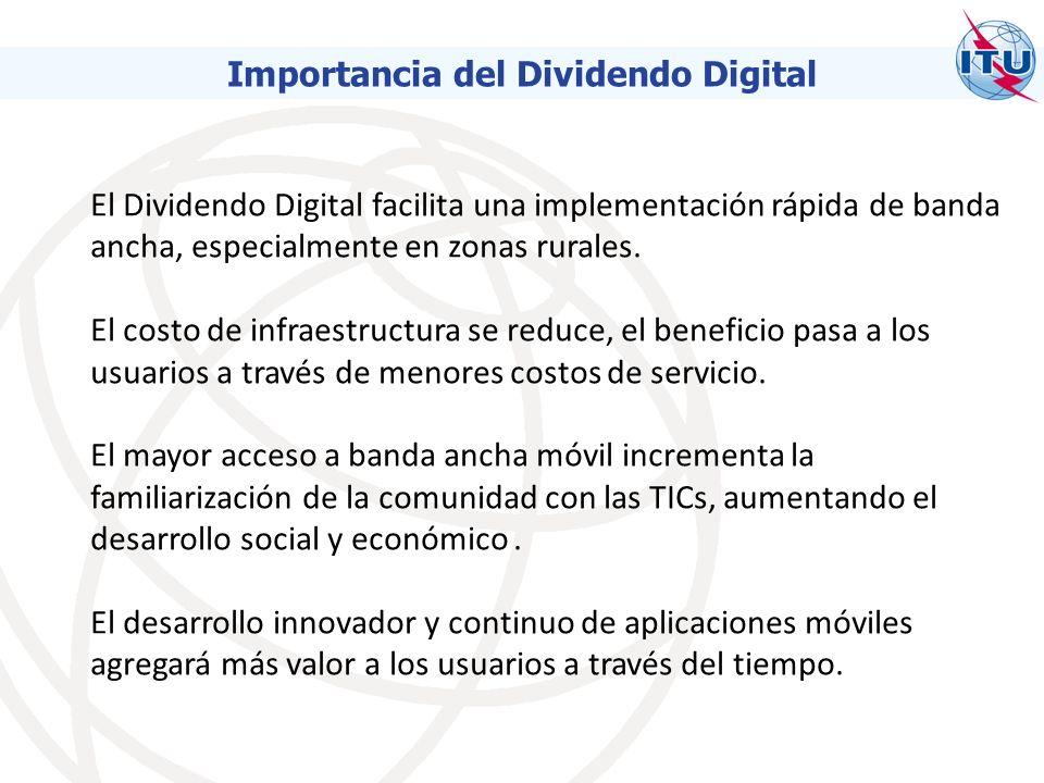 El Dividendo Digital facilita una implementación rápida de banda ancha, especialmente en zonas rurales.