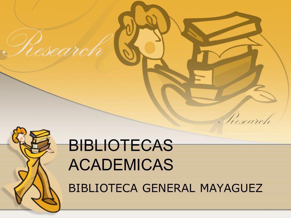 Biblioteca General La visión de la Biblioteca General del Recinto Universitario de Mayagüez es crear un ambiente idóneo que propenda al estudio e investigación utilizando al máximo sus recursos bibliográficos, económicos y humanos.