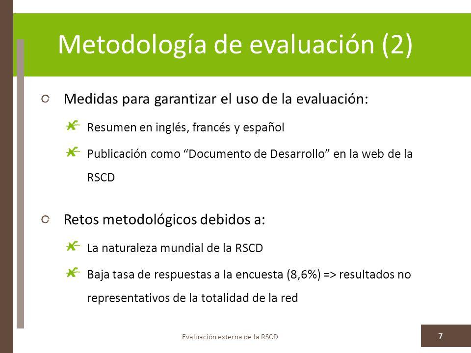 II. R ESULTADOS : L OGROS CLAVE DE LA RSCD (2011-2012)