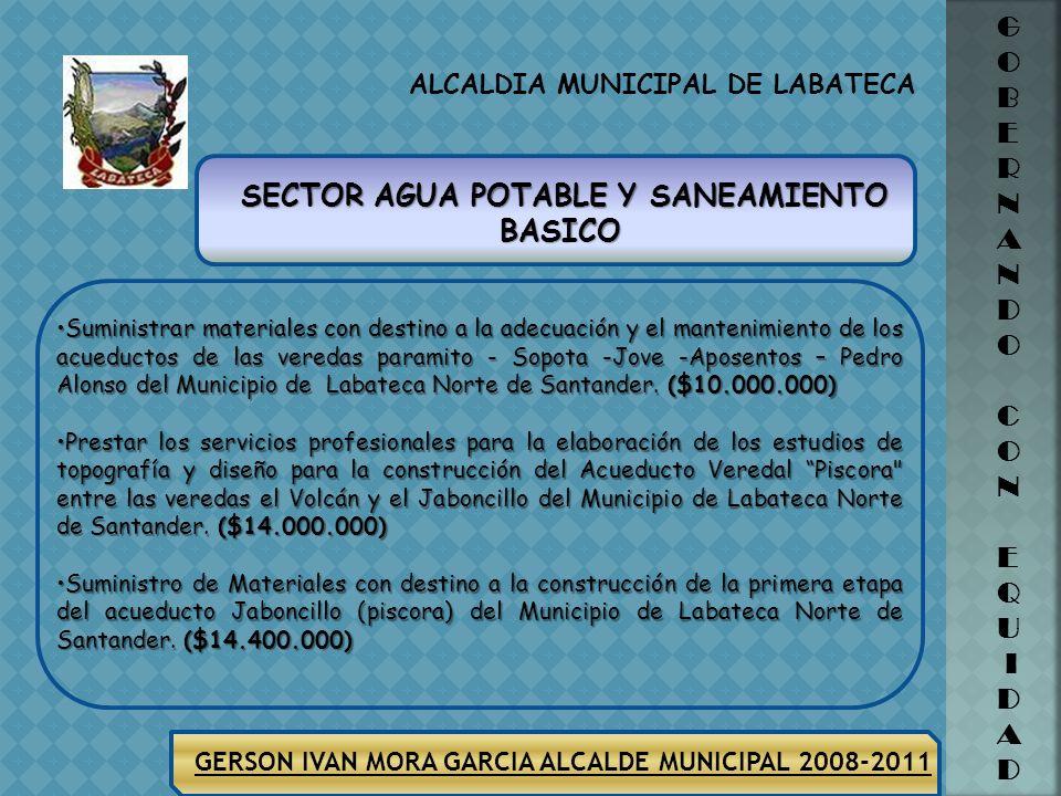 ALCALDIA MUNICIPAL DE LABATECA GERSON IVAN MORA GARCIA ALCALDE MUNICIPAL 2008-2011 G O B E R N A N D O C O N E Q U I D A D ALIMENTACION ESCOLAR VIGENC