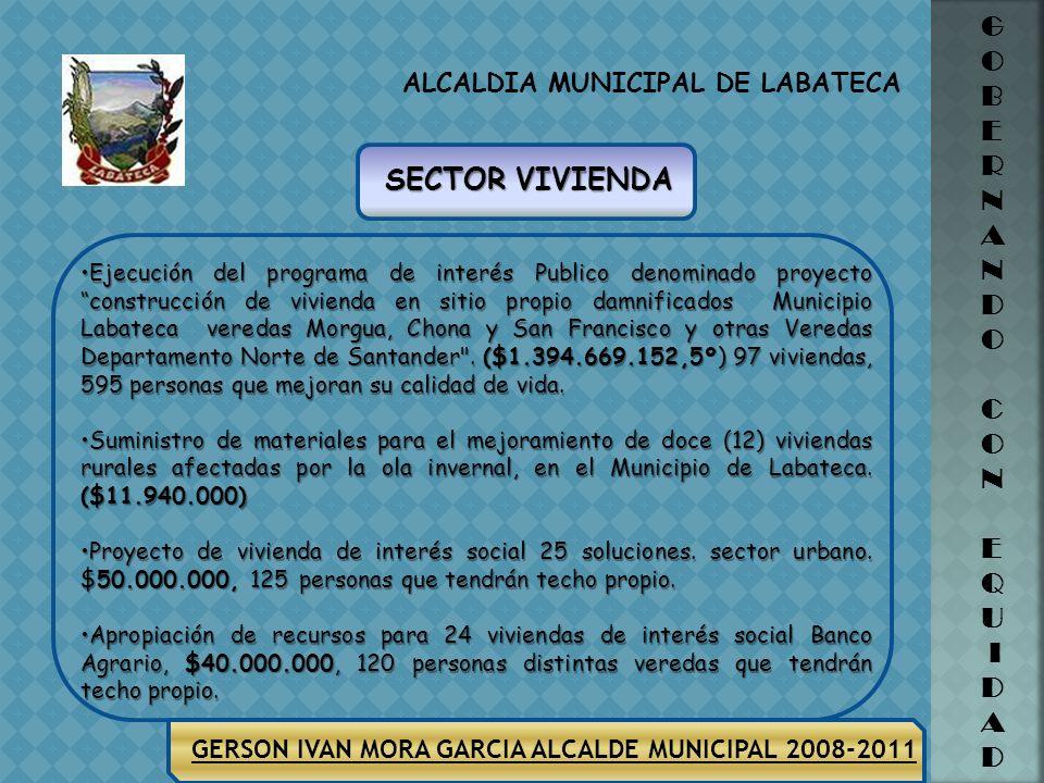 ALCALDIA MUNICIPAL DE LABATECA G O B E R N A N D O C O N E Q U I D A D GERSON IVAN MORA GARCIA ALCALDE MUNICIPAL 2008-2011 Realizar el levantamiento t
