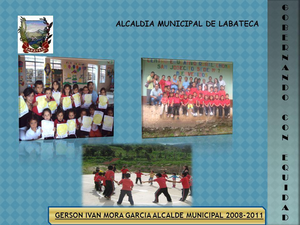 ALCALDIA MUNICIPAL DE LABATECA GERSON IVAN MORA GARCIA ALCALDE MUNICIPAL 2008-2011 G O B E R N A N D O C O N E Q U I D A D TRABAJO COMUNITARIO Charlas