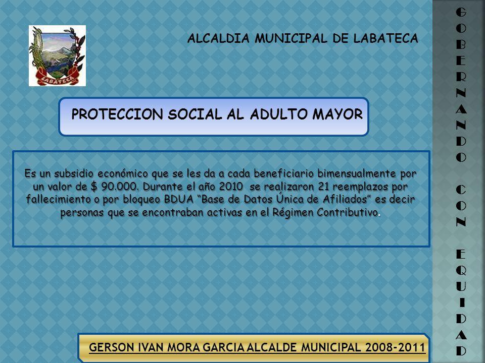 GERSON IVAN MORA GARCIA ALCALDE MUNICIPAL 2008-2011 ALCALDIA MUNICIPAL DE LABATECA G O B E R N A N D O C O N E Q U I D A D JUNTAS DE ACCION COMUNAL En