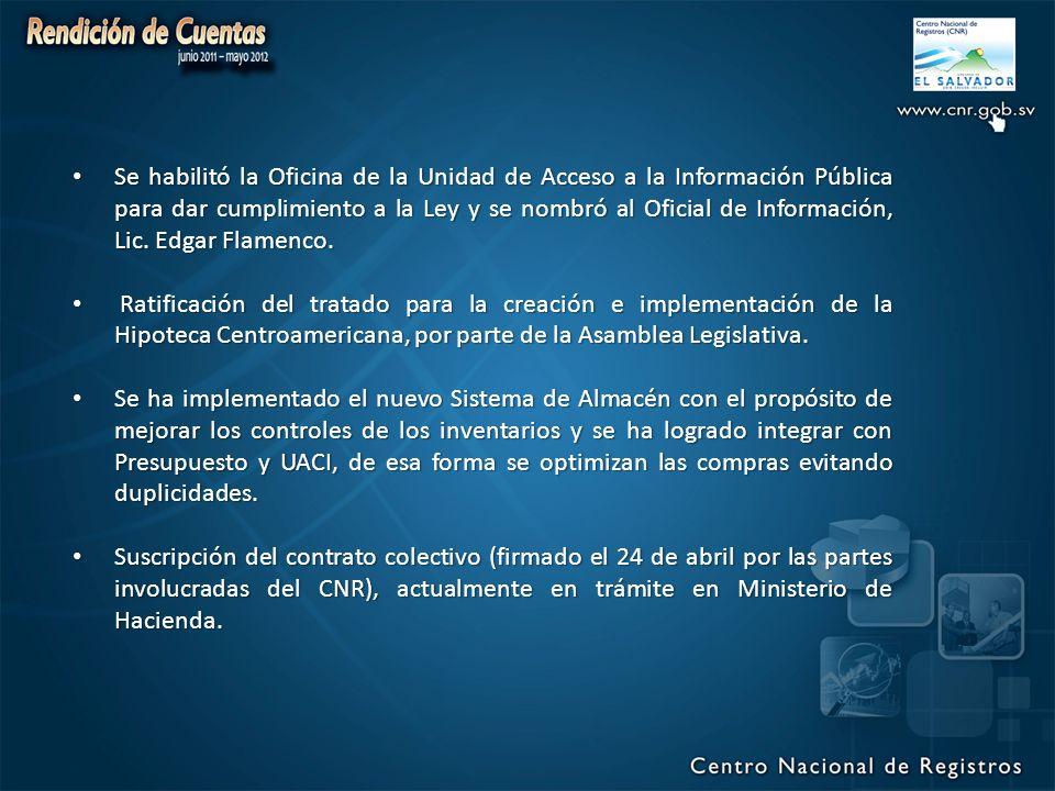 Se habilitó la Oficina de la Unidad de Acceso a la Información Pública para dar cumplimiento a la Ley y se nombró al Oficial de Información, Lic.