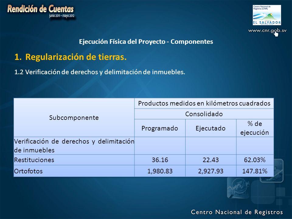 1.Regularización de tierras.1.2 Verificación de derechos y delimitación de inmuebles.