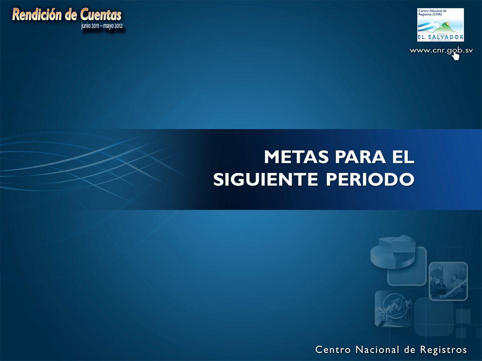 METAS PARA EL SIGUIENTE PERIODO