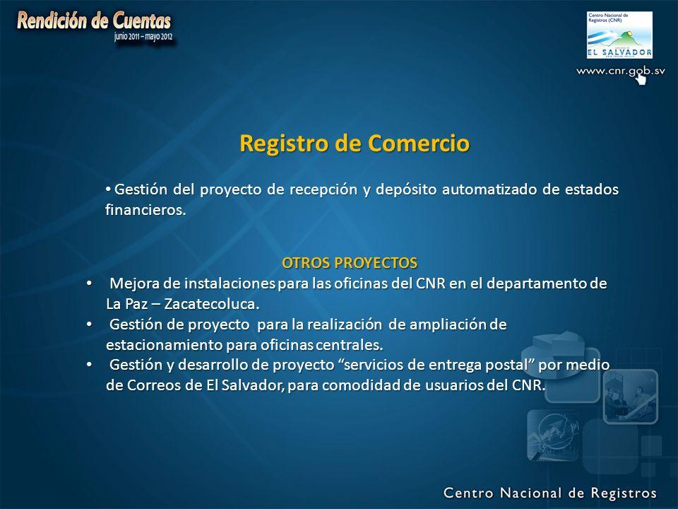 OTROS PROYECTOS Mejora de instalaciones para las oficinas del CNR en el departamento de La Paz – Zacatecoluca.