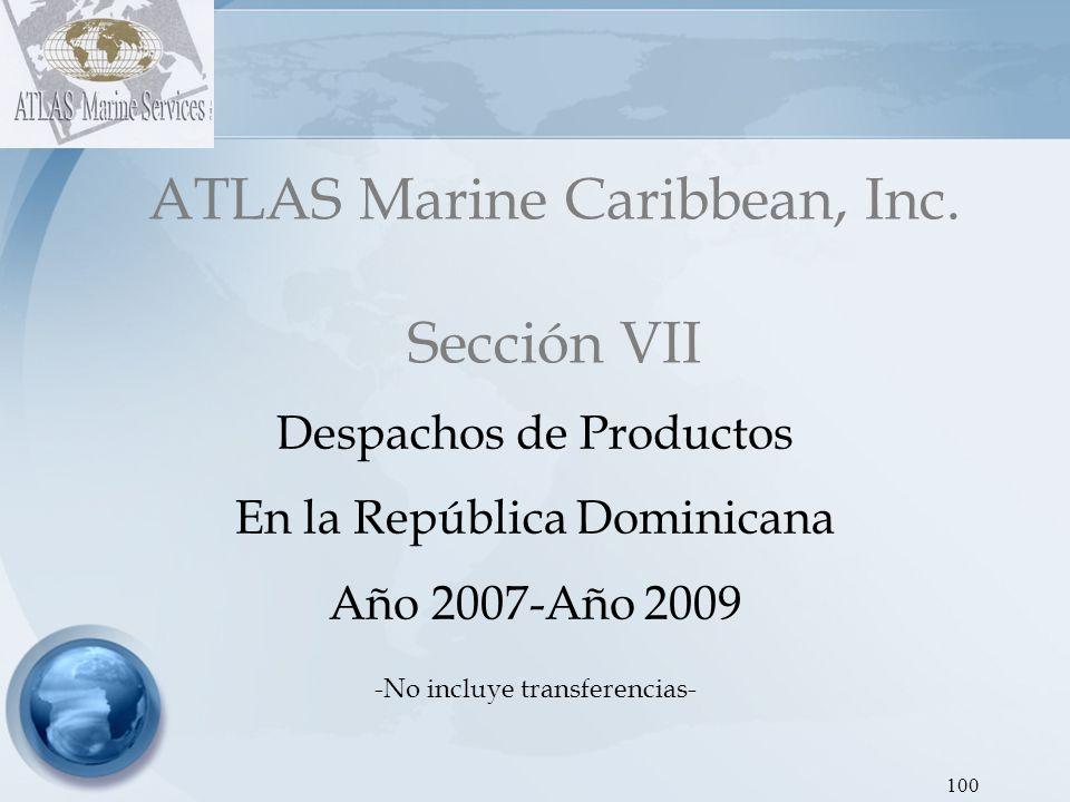 101 PRODUCTODESPACHOS (En BBLS) % MGR4,669,089.6415.03 MGP1,850,162.005.96 GOR7,845,751.5625.25 GOP1,109,074.323.57 JET KEROSEN3,539,707.6711.39 FUEL OIL2,777,966.228.94 GLP9,276,474.1629.86 TOTAL31,068,225.58 100.00 ATLAS Marine Caribbean, Inc Gráfica 1:Dirección de Hidrocarburos - Proyecto SEIC RD Despachos de Productos 2007 Nota: Incluye los despachos de Interquímica Despachos de Productos 2007