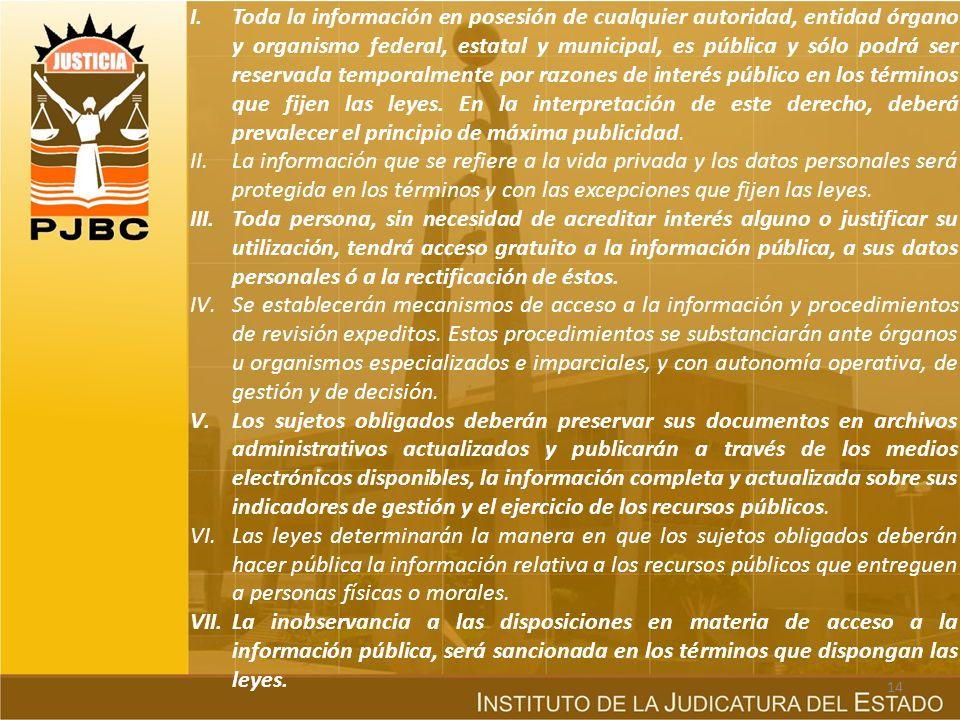 b) Marco constitucional y ley reglamentaria en México En nuestro país, se adicionó en el año de 1977, el artículo 6º Constitucional, para consagrar el derecho a la información como una garantía fundamental, 25 años después, se expide la Ley Federal de Transparencia y Acceso a la Información Pública Gubernamental, (publicada el 11 de junio de 2002, en el Periódico Oficial de la Federación), que tiene como finalidad proveer lo necesario para garantizar el acceso de todo persona a la información en posesión de los poderes de la unión, los órganos constitucionales autónomos o con autonomía legal y cualquier otra entidad federal.