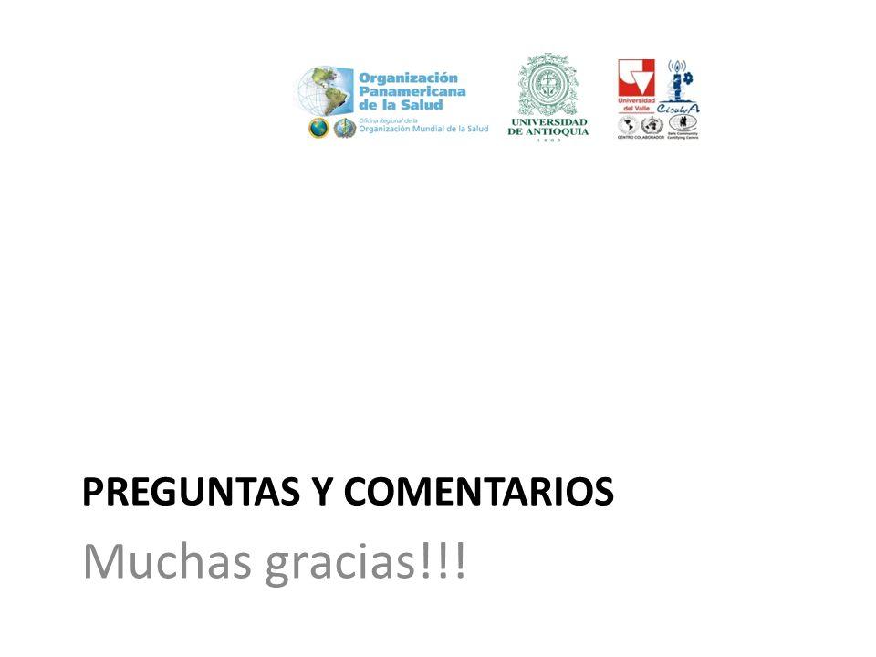 PREGUNTAS Y COMENTARIOS Muchas gracias!!!