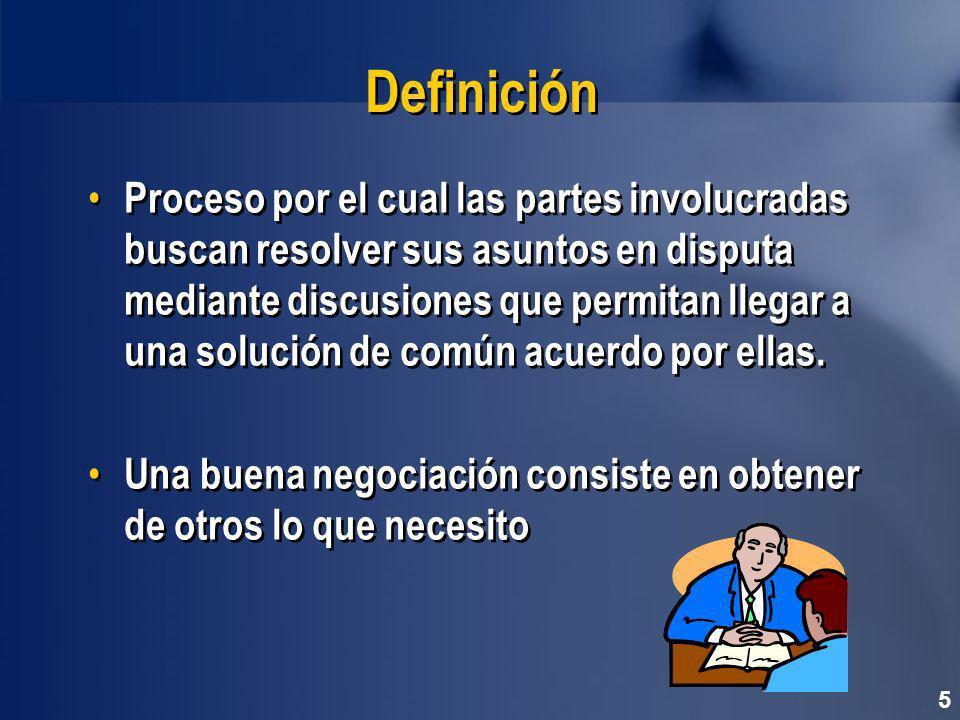 Definición Proceso por el cual las partes involucradas buscan resolver sus asuntos en disputa mediante discusiones que permitan llegar a una solución de común acuerdo por ellas.