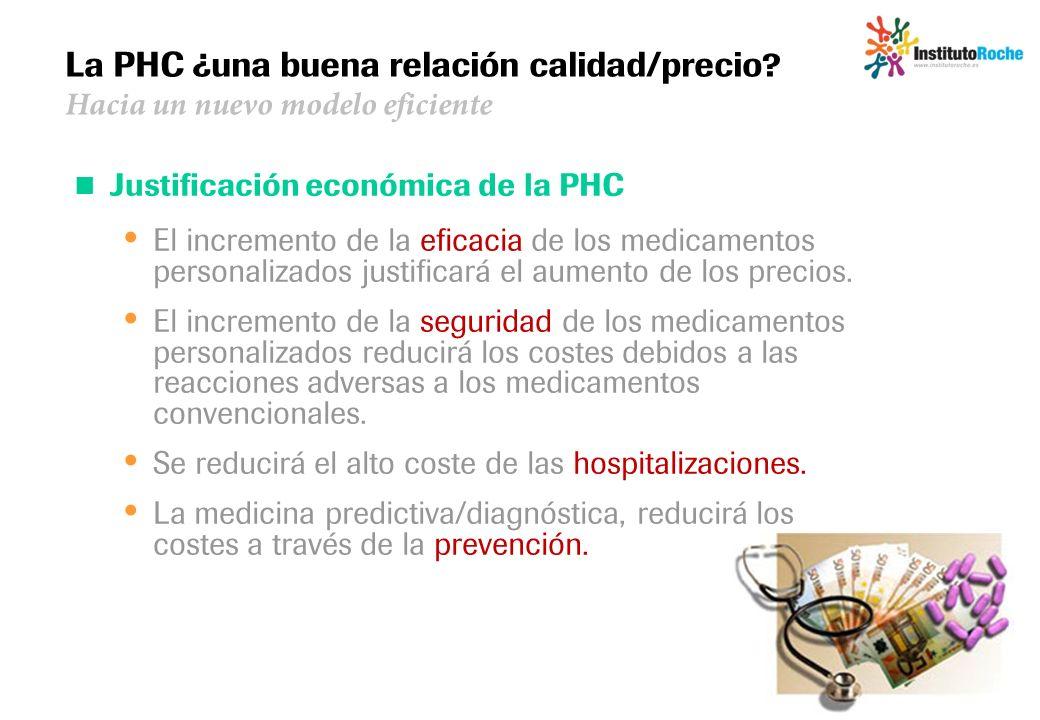 La PHC ¿una buena relación calidad/precio? Hacia un nuevo modelo eficiente Justificación económica de la PHC El incremento de la eficacia de los medic