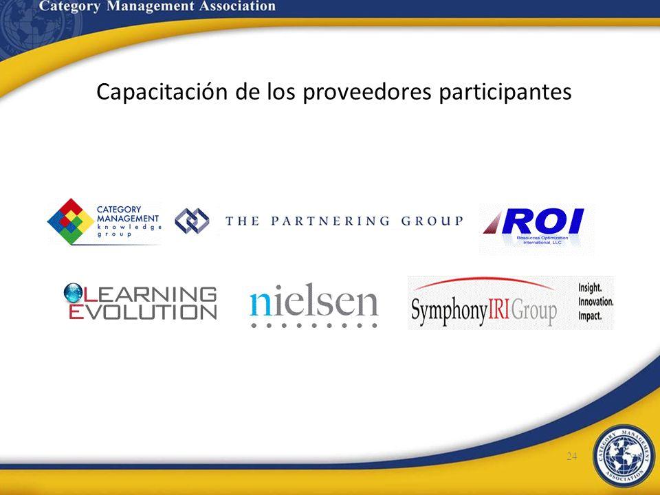 Capacitación de los proveedores participantes 24