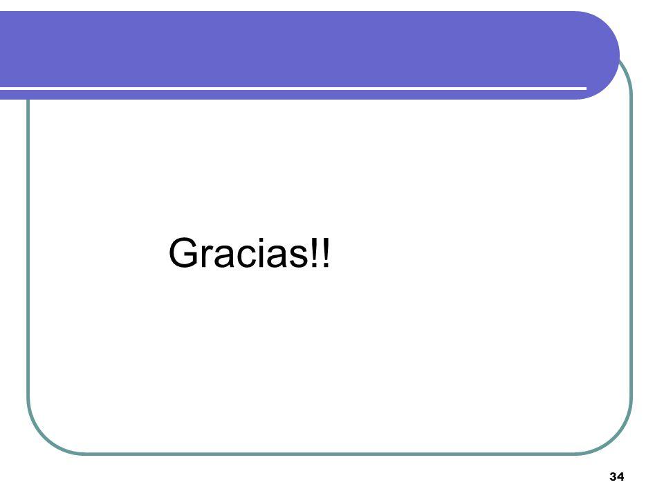 34 Gracias!!