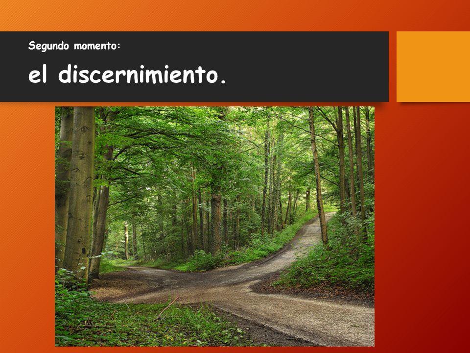 Segundo momento: el discernimiento.