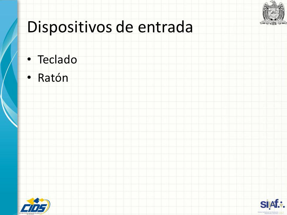 Dispositivos de entrada Teclado Ratón