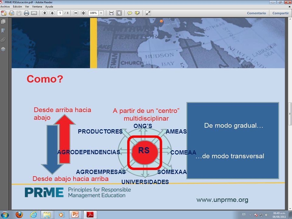 RS AMEAS COMEAA SOMEXAA UNIVERSIDADES AGROEMPRESAS AGRODEPENDENCIAS PRODUCTORES ONGS