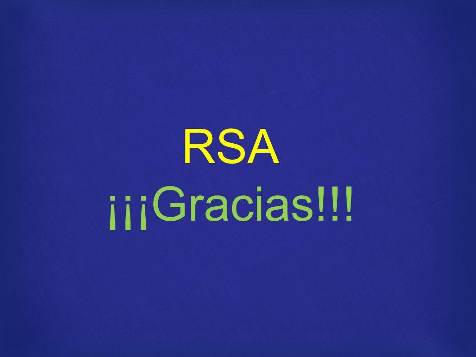 RSA ¡¡¡Gracias!!!