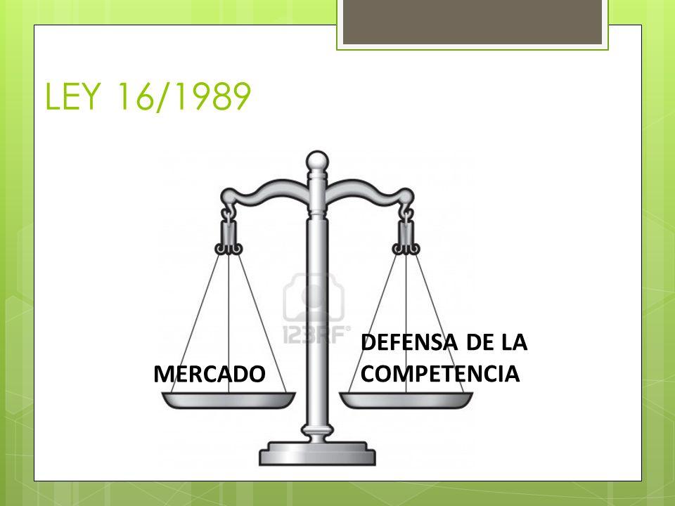 LEY 16/1989 MERCADO DEFENSA DE LA COMPETENCIA