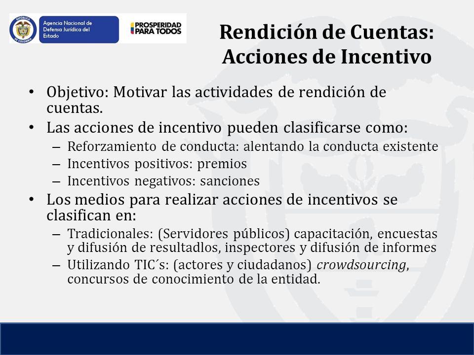 Objetivo: Motivar las actividades de rendición de cuentas.