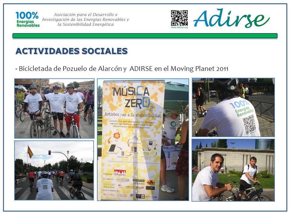 ACTIVIDADES SOCIALES - Bicicletada de Pozuelo de Alarcón y ADIRSE en el Moving Planet 2011