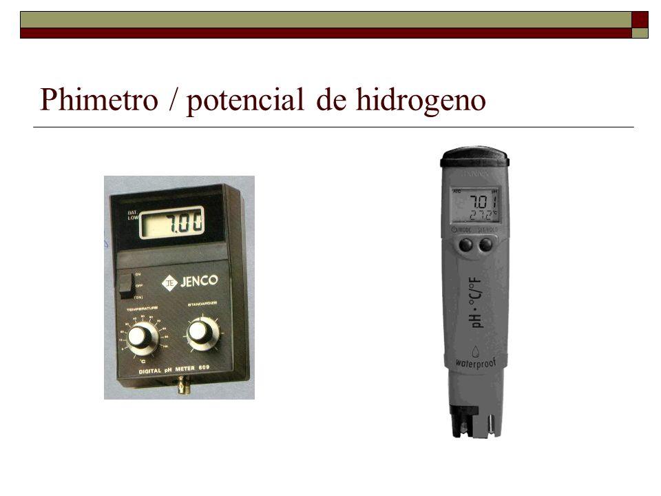 Phimetro / potencial de hidrogeno