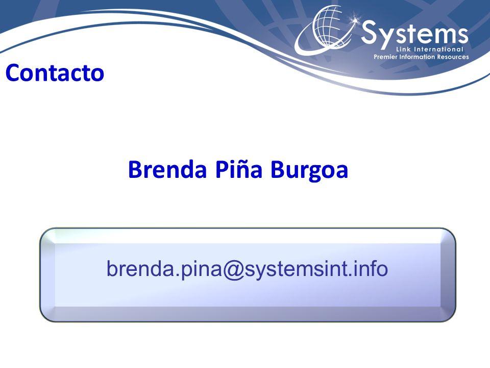 brenda.pina@systemsint.info Contacto Brenda Piña Burgoa