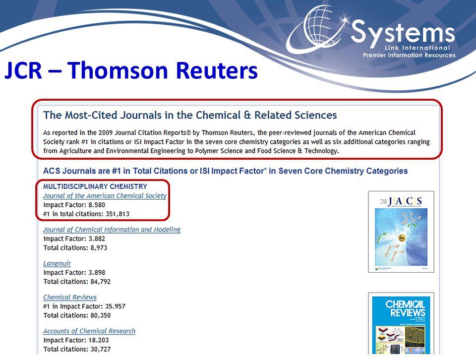 JCR – Thomson Reuters